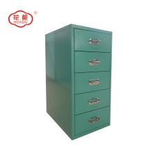 Стальные вертикальные цветные ящики рабочего стола, установить шкаф для хранения