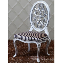 new design oval back baroque solid wood dining chair