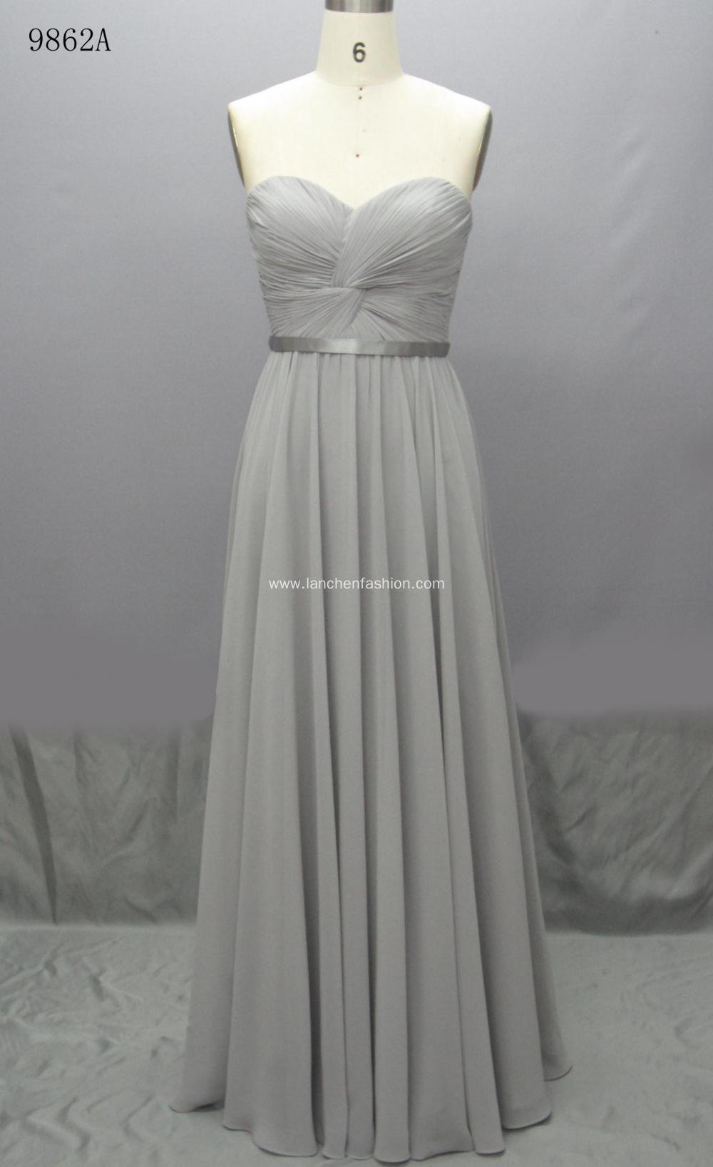 Elegant Lace Bridesmaid Maxi Formal Dress