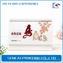 calendario anual de papel de alta calidad de encargo al por mayor de la fábrica