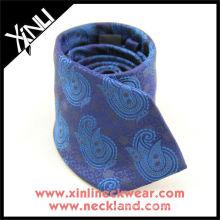 Cravate en soie tissée bleue violette de grand grenat de Paisley, cravate en soie de Paisley