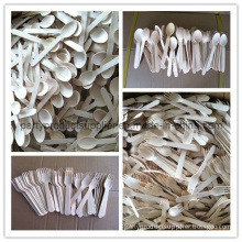 Eco-Friendly Wooden Spoons, Forks, Knives for Christmas Party