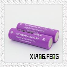 3.7V Xiangfeng 18650 2900mAh 20A Imr Перезаряжаемая литиевая батарея 3.7V Аккумулятор