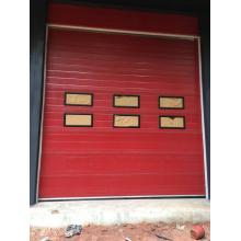 Overhead Sectional Garage Door with Transparent Window