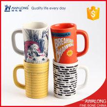Tasse personnalisable personnalisée personnalisée changeant de couleur / qualité HD tasse en grès / grande tasse en porcelaine fine