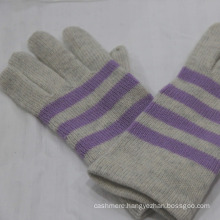 Men's classic Cashmere winter Gloves with color bar