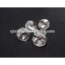 Cristal com buraco facetado contas de vidro octagon