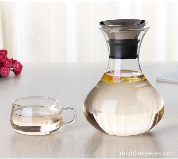 Handcraft Transpanent Glas Kaffee Pitcher