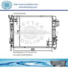 CHRYSLER Ram Radiator / Dodge Ram 3.7 / 4.7 6cyl 02-04 OEM: 52028829AE