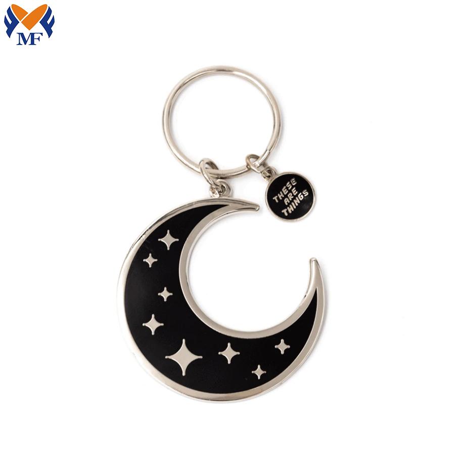 Moon Enamel Keychain