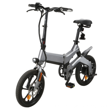 Mini Folding Bike 16 Inch Alloy Frame Ebike City Electric Bicycle