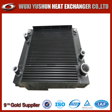hydraulic combined air to oil cooler for agricultural machinery