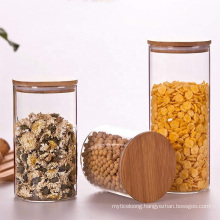 Clear Borosilicale Food Grade Glass Jar with Airtight Cap