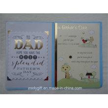 Feuillet en or Papier découpé découpé en papier imprimé Carte de voeux pour la fête des pères