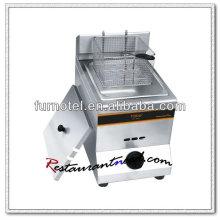 K572 Stainless Steel 1 Tank 1 Basket Gas Fryer