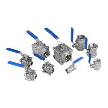 3 piece dn10 dn25 CF8 Thread ball valve