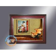marco de fotos digital de madera de 10.4 pulgadas