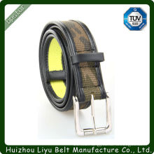 Top- Selling Stripe Pin Buckle Fabric Canvas Belt