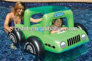 Baby Pool Buggy Float Seat Rider Inflatable Car Canopy Top Kids Toddlers Jeep