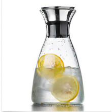Home Dining Clear Glass Water Pitcher Drinks Juice Coffee Jug Container