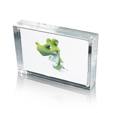 Rectángulo Acrylic Photo Frame Display, Magnetic Photo Display