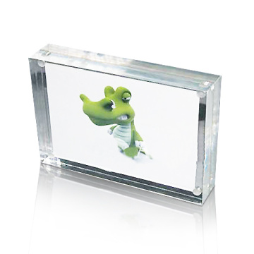 Rectangle Acrylic Photo Frame Display, Magnetic Photo Display