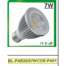7W regulable / no regulable PAR20 COB LED proyector
