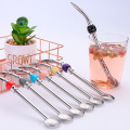 Stainless  Drinking Straw Strainer With Bead