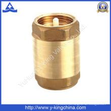 Válvula de retención de bronce de la primavera (YD-3001)