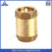 Válvula de mola de bronze de núcleo de plástico ou latão (YD-3001)