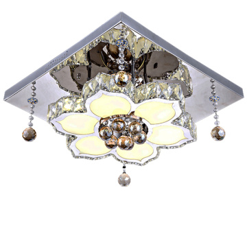 chandeliers flower light chrome led lighting fixtures