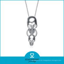 2015 925 plata plateó el collar de cadena cuadrado de los hombres de plata (N-0098)