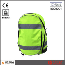 Wholesaled Promotional Hi Vis Yellow Warning Reflective Safety Backpack