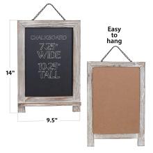Rustic Magnetic Hanging Chalkboard Wooden Framed Decorative Blackboard for Weddings