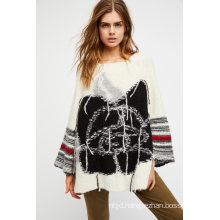Super Soft Knit Sweater Featuring a Rose Design
