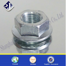 China Supplier High Strength Zinc Plated Hex Flange Nut