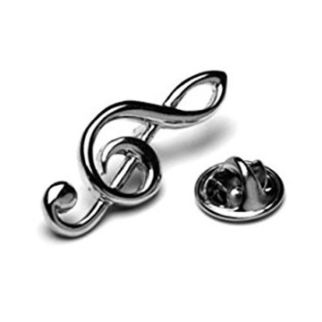 Treble Clef Tie Pin or Lapel Badge