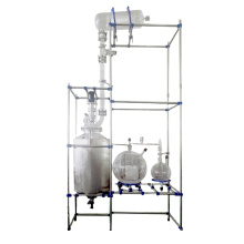Shanghai customized 200L glass reactor high vacuum distillation unit universal glass reactor