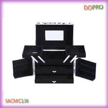 Caja de belleza cosmética portátil con cajones y espejo (sacim136)