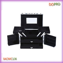 Portable Beauty Cosmetic Case with Drawers and Mirror (SACMC136)