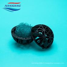 Boule remplissante en plastique de remplisseur de bio pour le traitement des eaux usées