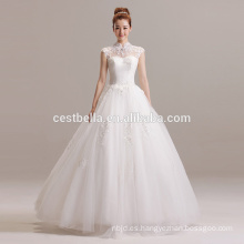 Nuevas llegadas 2016 Ball Gown diseñadores rebordeados vestido de novia de amor