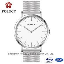 Estilo clásico acero inoxidable malla reloj relojes personalizados OEM