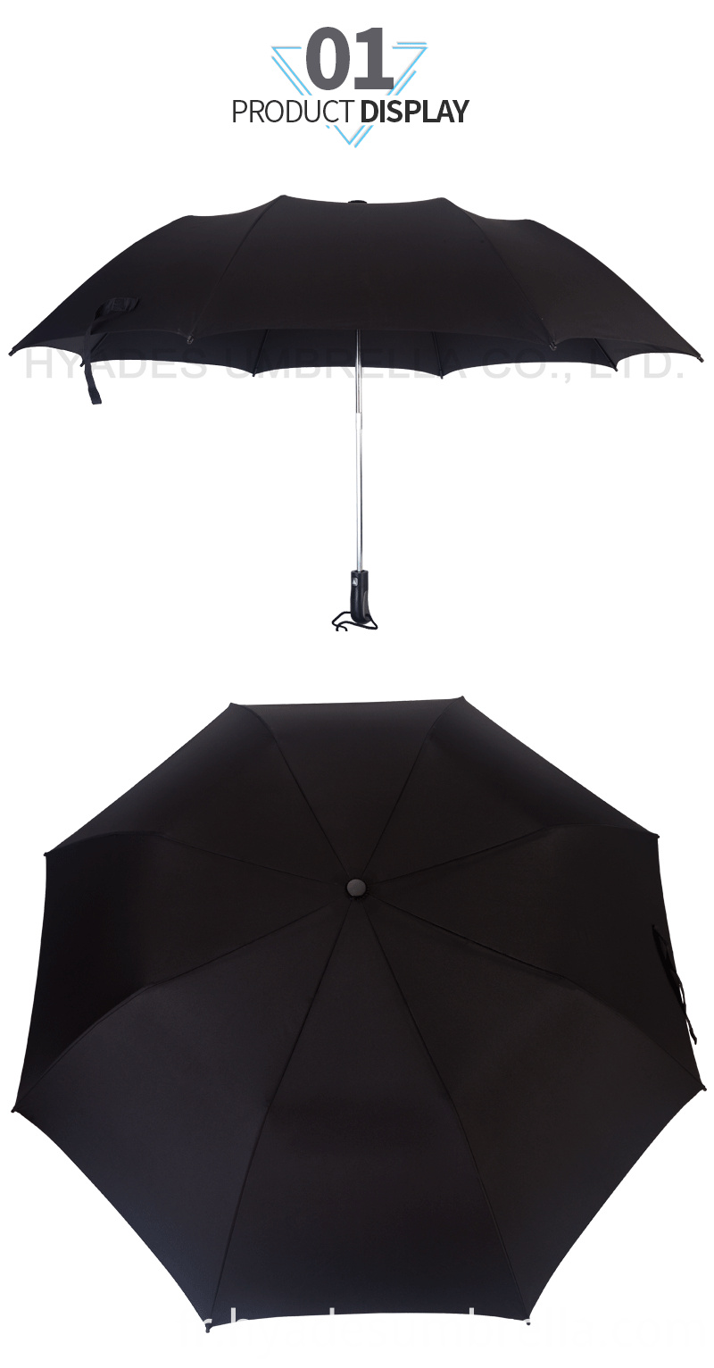 Windproof Mens 2 Folding Umbrella