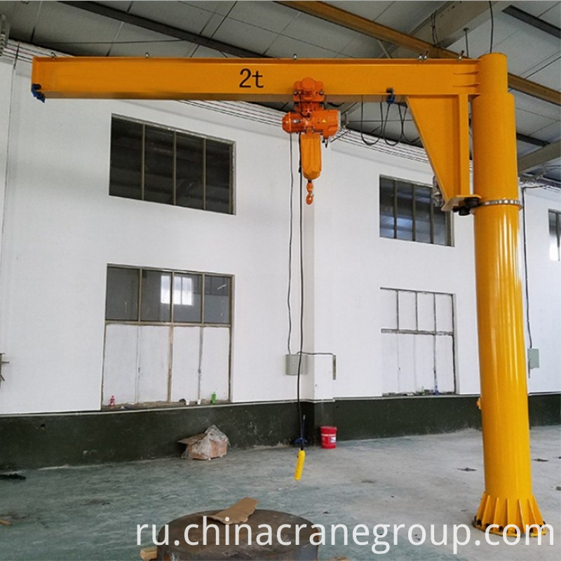 pillar fixed jib crane