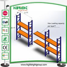Prateleira de armazenamento de armazém de metal resistente