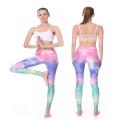 Kundengebundener Sublimations-Großhandel, der Yoga-Strumpfhosen-Kompression trägt, keucht Frauen