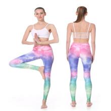Sublimation personnalisé en gros portant des collants de yoga pantalons de compression femmes