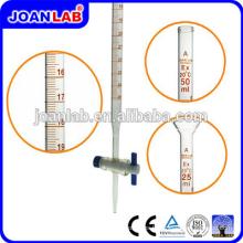 JOAN Lab Borosil Tube Burette Verre 50ML Avec Fournisseurs Stopcock
