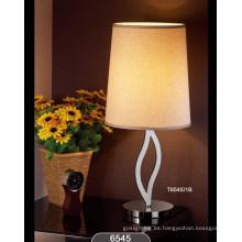 Modernas lámparas de mesa de acero para el hogar (T6545-1B)